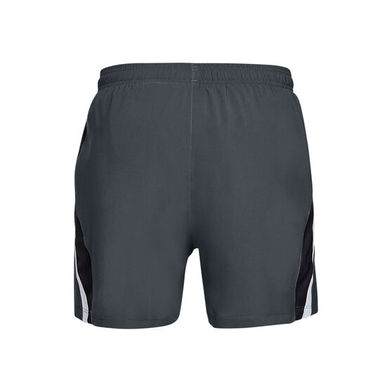 Under Armour Mens Launch SW 2-in-1 Shorts, Grey, rebel_hi-res