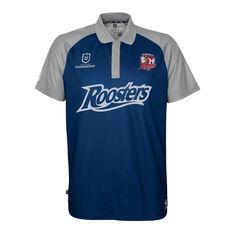 Sydney Roosters 2021 Mens Polo Blue S, Blue, rebel_hi-res