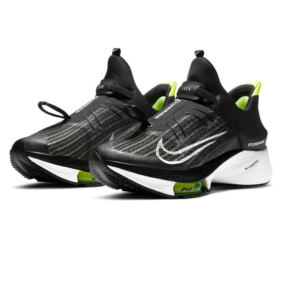 Nike Air Zoom Tempo Next% FlyEase Mens Running Shoes, Black/White, rebel_hi-res