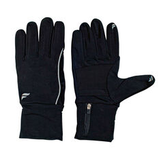 Fly Active Womens Running Glove Pocket Black S, Black, rebel_hi-res
