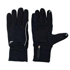 Fly Active Womens Running Glove Pocket Black S, Black, rebel_hi-res