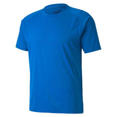 Puma x First Mile Mens Mono Training Tee Blue S, Blue, rebel_hi-res