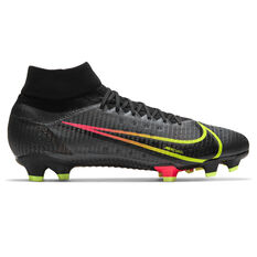 Nike Mercurial Superfly 8 Pro Football Boots Black US Mens 7 / Womens 8.5, Black, rebel_hi-res