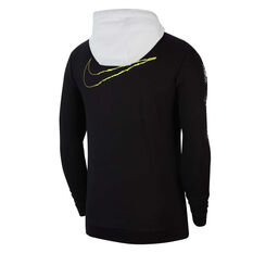 Nike Mens Dri-FIT Fleece Full Zip Training Hoodie Black XS, Black, rebel_hi-res