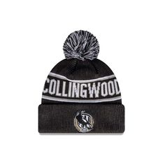 Collingwood Magpies New Era Supporter Beanie Black/White OSFA, , rebel_hi-res