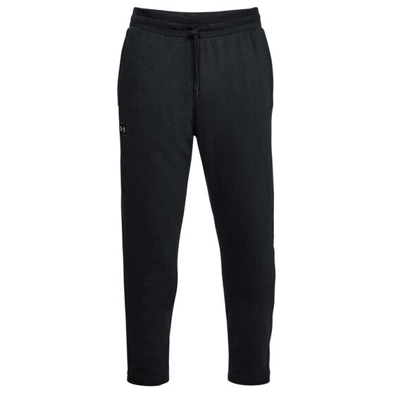 Under Armour Mens UA Rival Fleece Jogger Pants, Black / White, rebel_hi-res