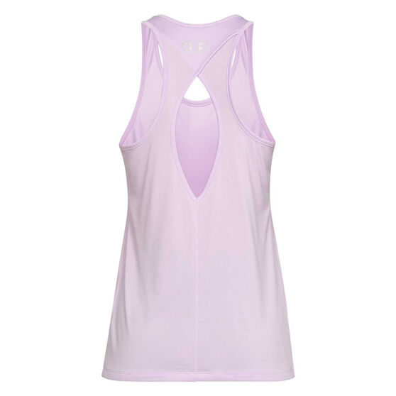 Under Armour Womens Tech Graphic Tank, Purple, rebel_hi-res