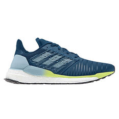 adidas Solar Boost Mens Running Shoes Blue / Yellow US 7, Blue / Yellow, rebel_hi-res