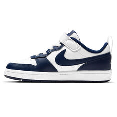 Nike Court Borough Low 2 Kids Casual Shoes White/Navy US 11, White/Navy, rebel_hi-res