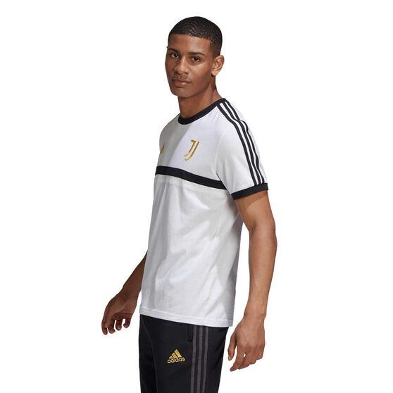 Juventus 2020/21 Mens 3-Stripes Tee White XXL, White, rebel_hi-res