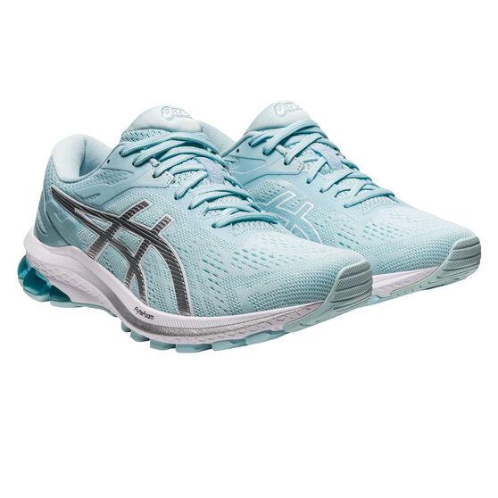 Asics GT 1000 10 Womens Running Shoes, Blue/Silver, rebel_hi-res