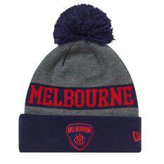 Melbourne Demons 2018 New Era Jake Beanie Grey OSFA, , rebel_hi-res