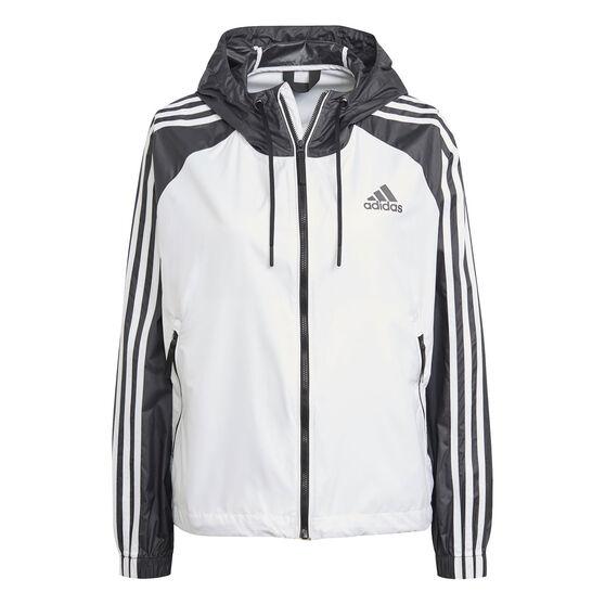 adidas Womens 3 Stripes Wind Jacket, , rebel_hi-res