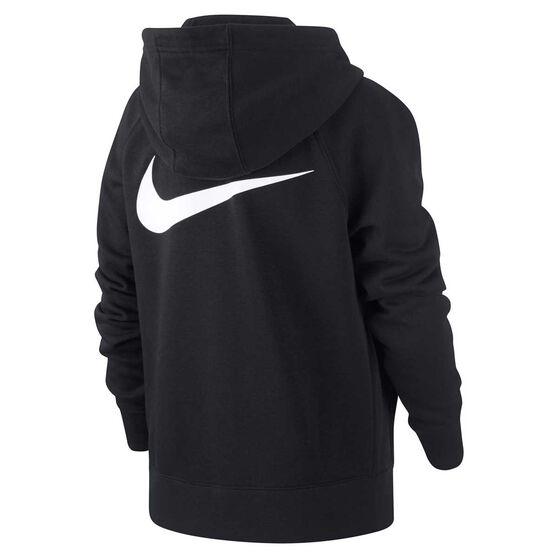 Nike Boys Sportswear Swoosh Hoodie, Black / White, rebel_hi-res