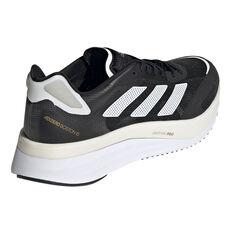 adidas Adizero Boston 10 Mens Running Shoes, Black/White, rebel_hi-res