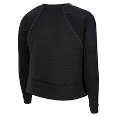 Nike Womens Pro Luxe Fleece Sweatshirt Black XS, Black, rebel_hi-res