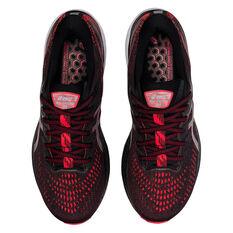 Asics GEL Kayano 28 2E Mens Running Shoes, Black/Red, rebel_hi-res