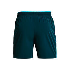 Under Armour Mens Qualifier 5in Woven Training Shorts, Blue, rebel_hi-res