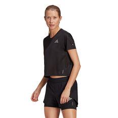 adidas Womens Primeblue Tee Black XS, Black, rebel_hi-res