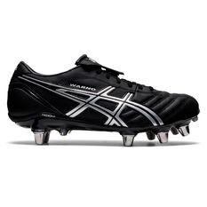 Asics Lethal Warno ST2 Rugby Boots, Black/Silver, rebel_hi-res