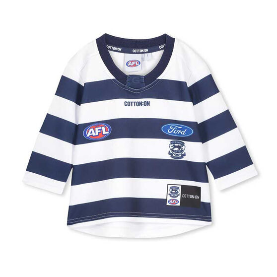 Geelong Cats 2020 Infants Home Guernsey, Blue / White, rebel_hi-res