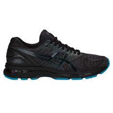 Asics GEL Nimbus 20 Lite Show Mens Running Shoes Black / Black US 7, Black / Black, rebel_hi-res