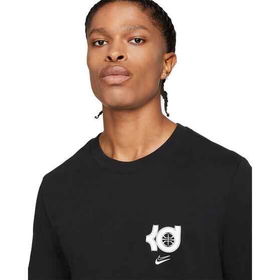 Nike Mens Dri-FIT KD Logo Basketball Tee, Black, rebel_hi-res