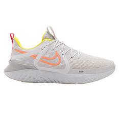 Nike Legend React 2 Womens Running Shoes, White/Orange, rebel_hi-res