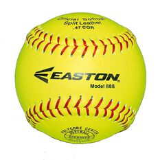 Easton 888 Leather Neon Softball Ball Yellow, , rebel_hi-res