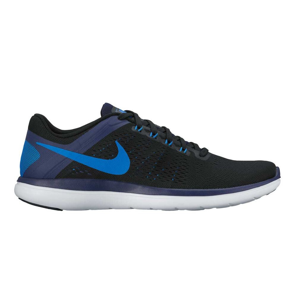 39df209e2 Nike Flex 2016 RN Mens Running Shoes Black   Blue US 7