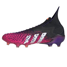 adidas Predator Freak + Football Boots Black US Mens 9 / Womens 10, Black, rebel_hi-res