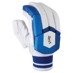 Kookaburra Pace Pro 6.0 Cricket Batting Gloves White/Blue Right Hand, White/Blue, rebel_hi-res