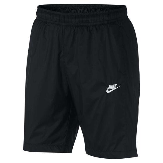 Nike Mens Woven Core Track Shorts, Black / White, rebel_hi-res