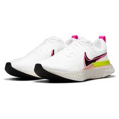 Nike React Infinity Run Flyknit 2 Mens Running Shoes, White/Black, rebel_hi-res