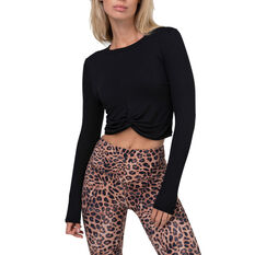 2XU Womens Form Crop Sweater Black XS, Black, rebel_hi-res
