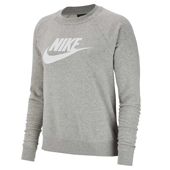 Nike Womens Sportswear Essential Fleece Sweatshirt, Grey, rebel_hi-res