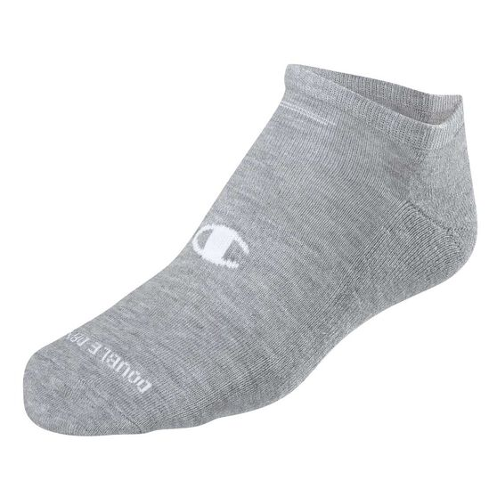 Champion Mens Low Cut 5 Pack Socks White L, White, rebel_hi-res