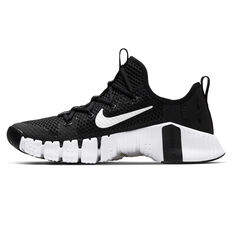 Nike Free Metcon 3 Mens Training Shoes Black/White US 7, Black/White, rebel_hi-res