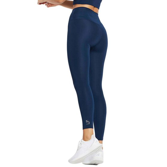 Nimble Womens All Day High Rise II Tights, Navy, rebel_hi-res