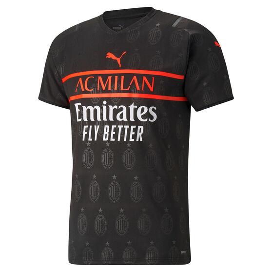 AC Milan 2021/22 Mens Replica 3rd Jersey Black S, Black, rebel_hi-res