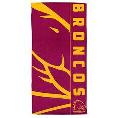 Brisbane Broncos Beach Towel, , rebel_hi-res