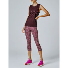 Running Bare Womens Easy Rider Muscle Tank, Purple, rebel_hi-res