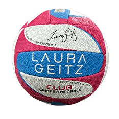 Reliance Laura Geitz Club Netball White / Pink 5, , rebel_hi-res