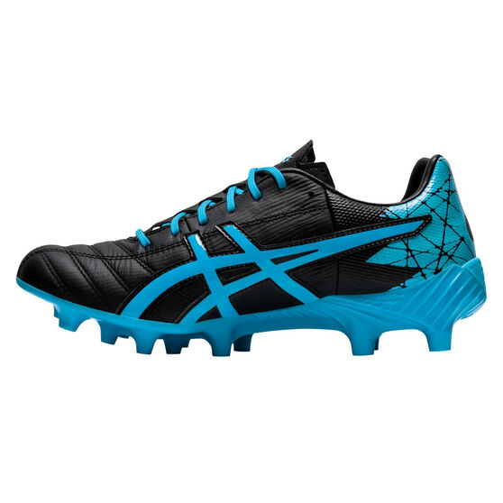 Asics Lethal Tigreor IT FF Womens Football Boots, Black / Blue, rebel_hi-res