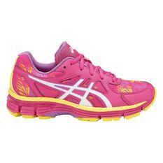 Asics Gel Netburner Professional 13 Girls Netball Shoes Pink / Yellow US 4, Pink / Yellow, rebel_hi-res