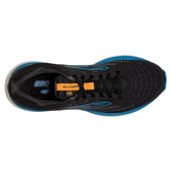 Brooks Glycerin 19 Mens Running Shoes, Black/Blue, rebel_hi-res