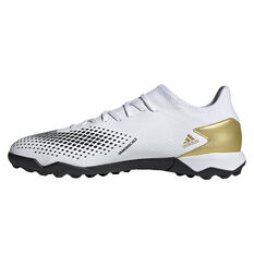 adidas Predator 20.3 Low Touch and Turf Boots, White/Gold, rebel_hi-res