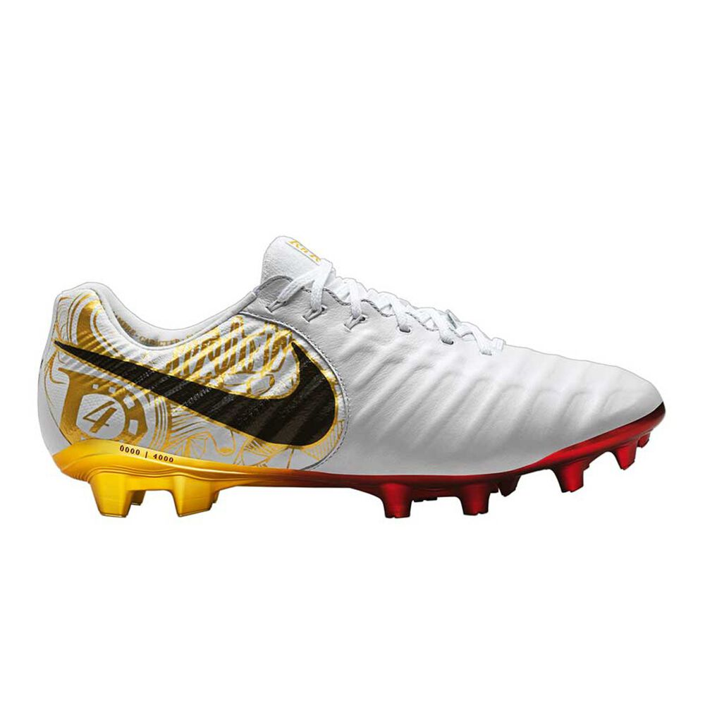 Nike Tiempo Legend VII Ramos Special Edition Mens Football Boots White    Gold US 6 Adult ac0db5c66c7