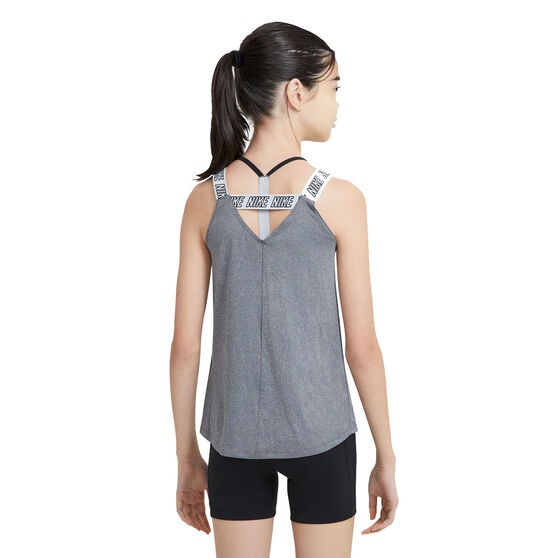 Nike Girls Dri-FIT Training Tank, Grey, rebel_hi-res