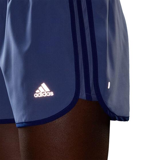 adidas Womens Marathon 20 Running Shorts, Purple, rebel_hi-res